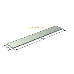 Aluminum plate 200x30x3 mm