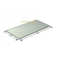Aluminium plate 200x100x2 mm