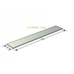 Aluminium plate 200x30x2 mm