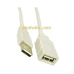 USB extension cable A-A 1.8m