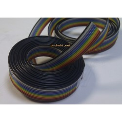 FLAT cable 10x0,09 COLOUR 2m