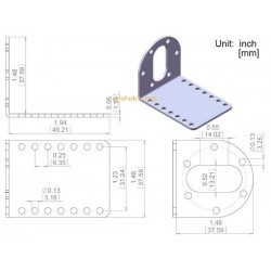 Metal bracket for motor-37D...