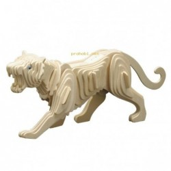WOOD CONSTRUCTION KIT-TIGER
