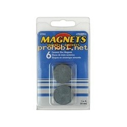 ROUND MAGNETS (25x4 mm) 6 pcs.